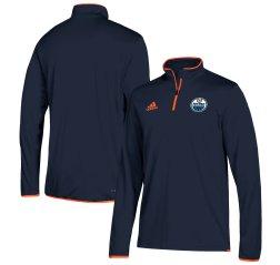 Edmonton Oilers  adidas 1/4 Zip Pullover Jacket Tuotekuva