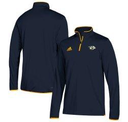 Nashville Predators adidas 1/4 Zip Pullover Jacket