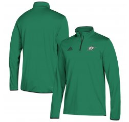 Dallas Stars adidas 1/4 Zip Pullover Jacket